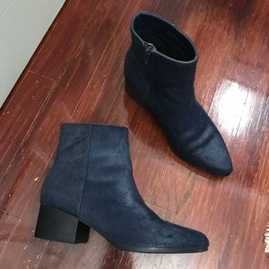 UO Calf Hair Ankle Boots